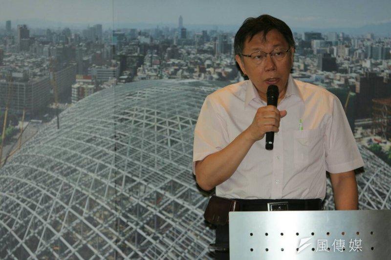 台北市長柯文哲今日到議會備詢,大巨蛋仍是關鍵議題。(資料照片,余志偉攝)