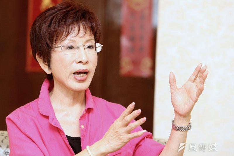 立法院副院長洪秀柱通過國民黨初選民調後,接受風傳媒專訪