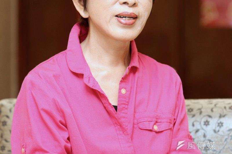 立法院副院長洪秀柱通過國民黨初選民調之後,接受風傳媒專訪(吳逸驊攝)