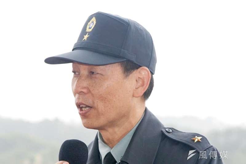 DSC09497-104年國軍春節加強戰備操演,陸軍政戰主任黃開森少將-蘇仲泓攝.JPG