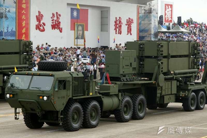 抗戰70周年國防戰力展示,愛國者三型防空飛彈發射車(蘇仲泓攝)
