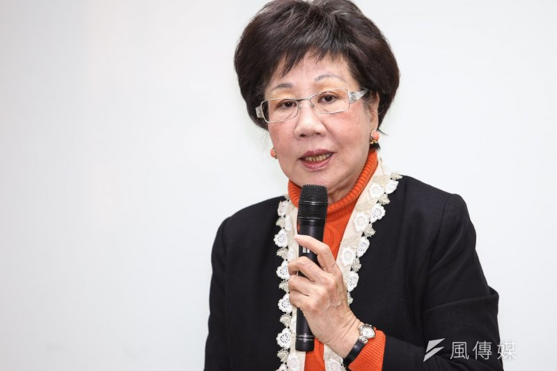 前副總統呂秀蓮今日將赴高檢署告發另一位前副總統觸犯刑法外患罪。(資料照片,林韶安攝)