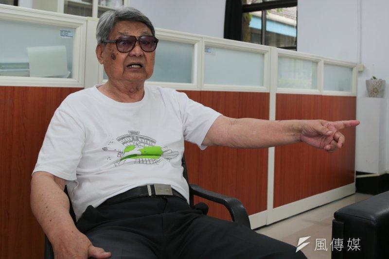90歲的郭振純是白色恐怖的受難者之一。(余志偉攝)
