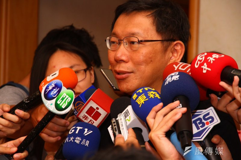 台北市長柯文哲在選舉時被爆出的MG149案,台北地檢署將於下周以被告身分請柯文哲到場說明。(資料照片,曾原信攝)