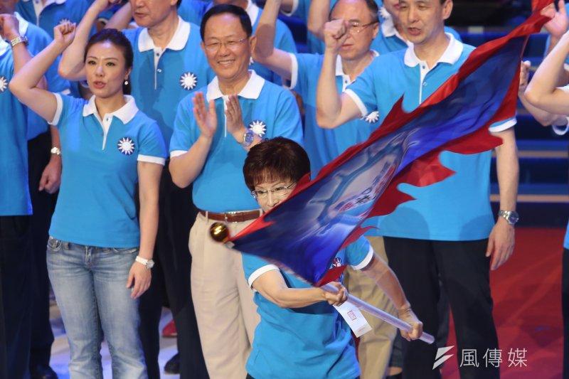 國民黨全代會正式提名洪秀柱為國民黨總統候選人。