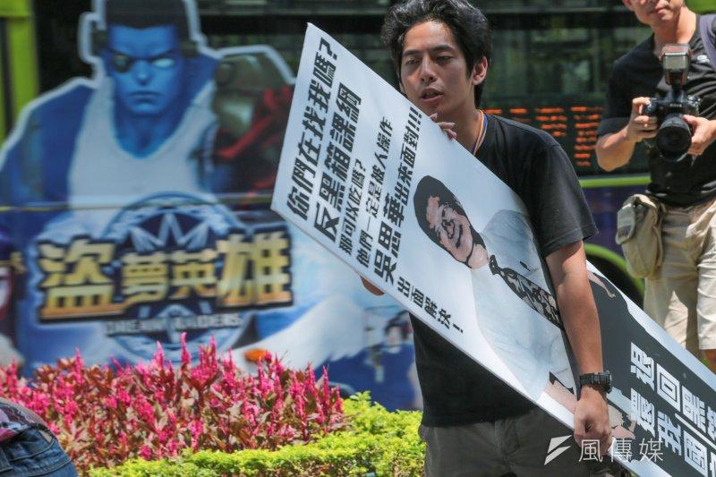 反課綱抗議學生在教育部前。(余志偉攝)