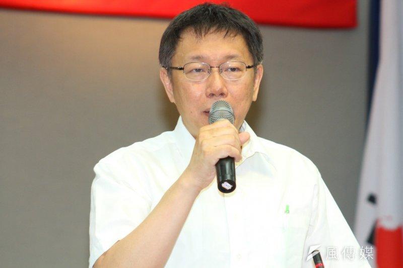 台北市長柯文哲對於3名記者遭逮捕,表示道歉。(資料照,曾原信攝)