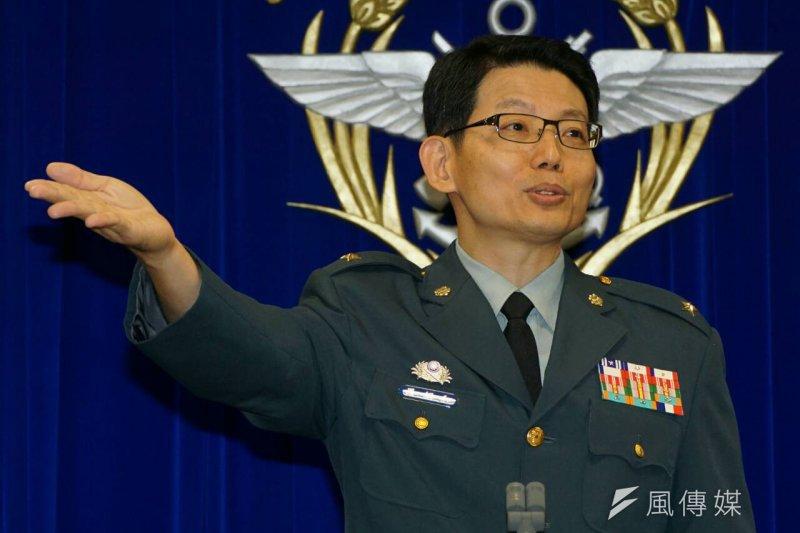 國防部發言人羅紹和少將(蘇仲泓攝)