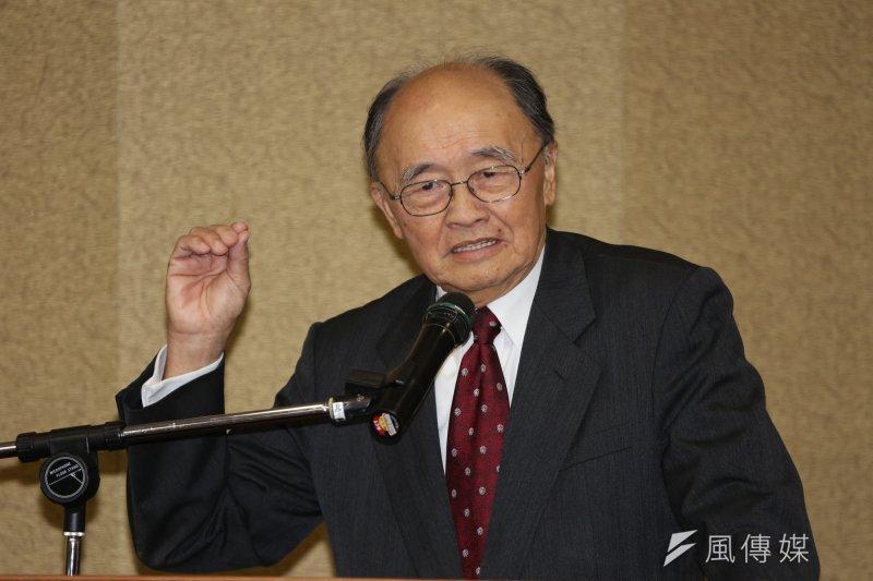 2014年3月6日,前外交部長程建人參加台北論壇經濟政策菁英高階研習班始業式(余志偉攝)