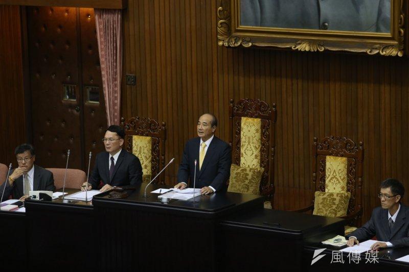 立法院談話會,王金平宣布朝野協商結果。(吳逸驊攝)