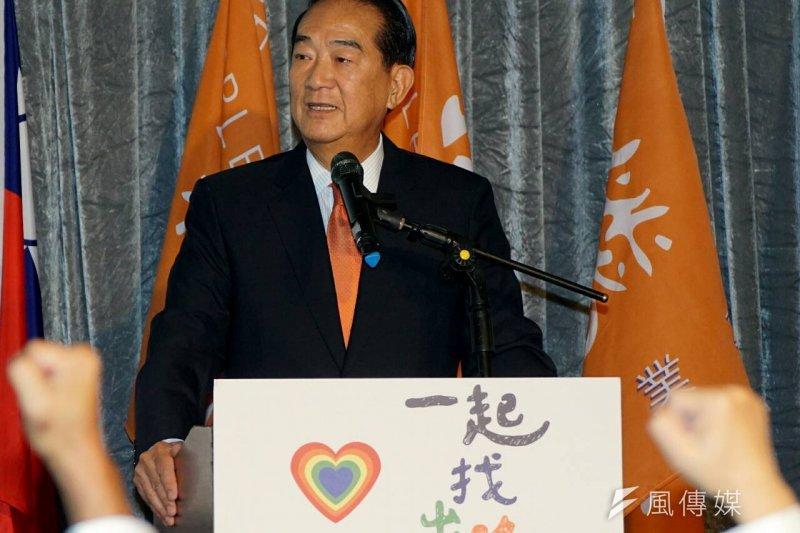 宋楚瑜6日宣布參選2016,但根據最新民調,親民黨的立委選情並未隨之上升。(資料照片,蘇仲泓攝)