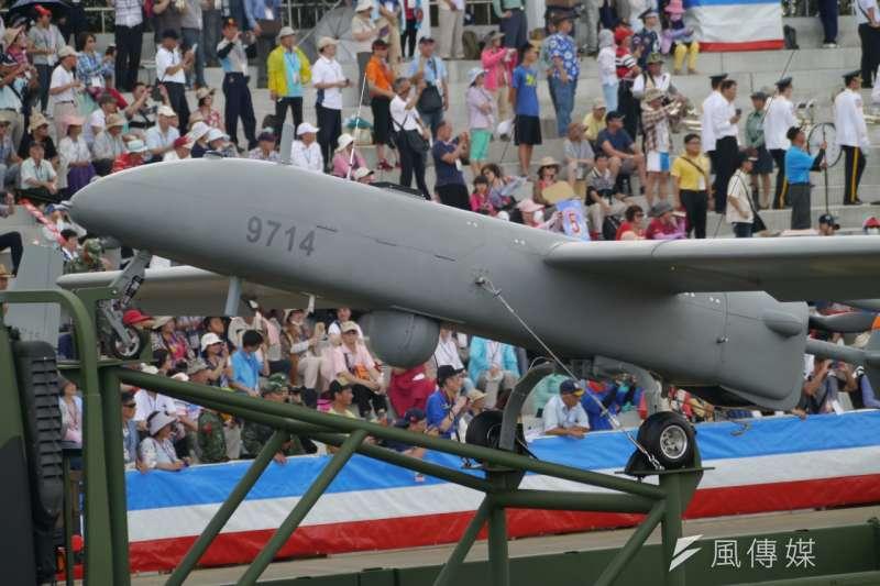 中山科學研究院研發的陸軍「銳鳶無人機系統」,獲得中東國家極高的詢問度。(朱明攝)