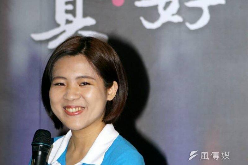 年僅26歲的徐巧芯,現任朱立倫競選辦公室發言人,此次也列入國民黨不分區名單,排名第17位。(資料照,蘇仲泓攝)