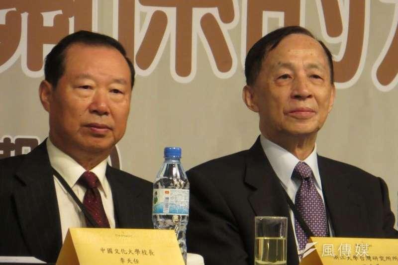 前海協會長王在希(左)表示,政黨輪替不影響兩岸關係進展。(仇佩芬攝)