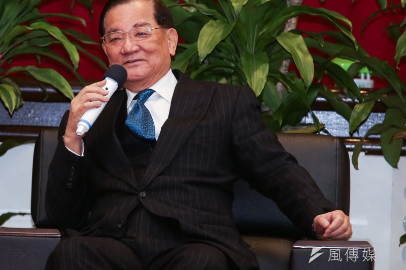 2014年12月15日,連戰與海協會會長陳德銘會面(林韶安攝)