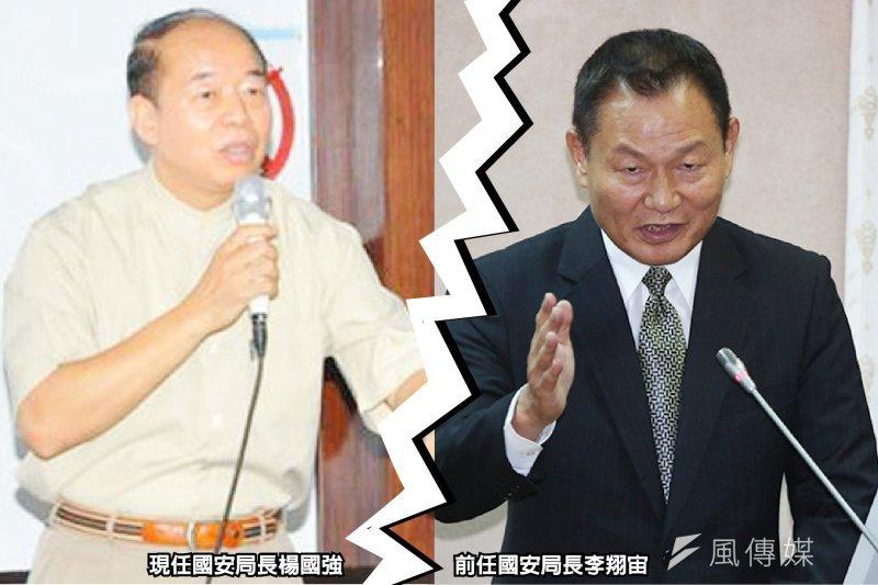 國家安全局長楊國強(左)對於前國安局長李翔宙獨創的晨間會報,覺得過於例行性。(資料照,忠義人才培育中心網站、余志偉攝/影像合成:風傳媒)