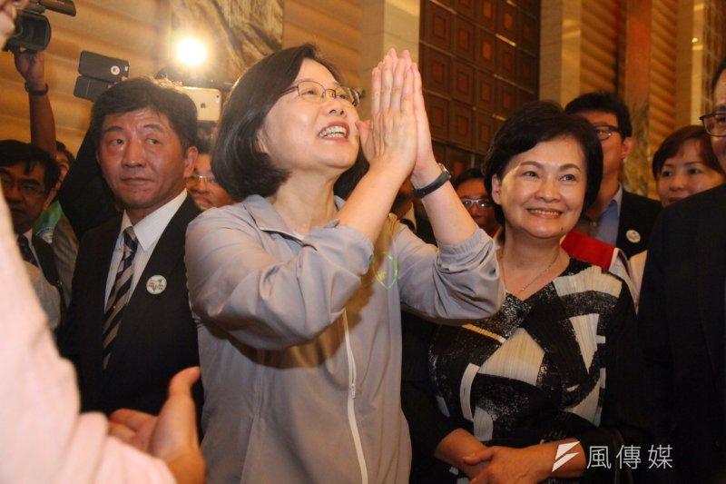 民進黨總統參選人蔡英文宣示,當選後要以總統身份領導司法改革。(資料照/曾原信攝)