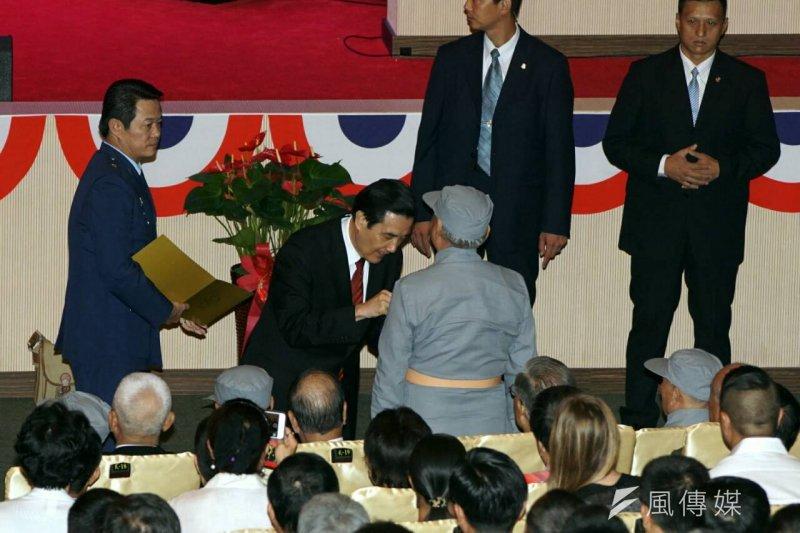 總統馬英九出席軍人節表揚大會。(蘇仲泓攝)