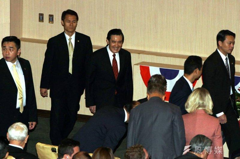 總統馬英九9月2日出席軍人節表揚大會。(蘇仲泓攝)