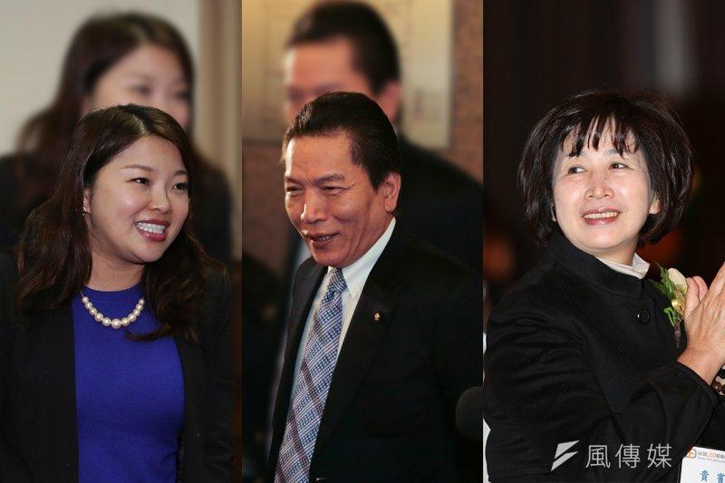 國民黨爆發跳船潮,現任立委張嘉郡(左起)、李鴻鈞、鄭汝芬都在獲得提名之後宣布退選,黨中央如何處理成為關注焦點。(余志偉、吳逸驊攝/影像合成:風傳媒)
