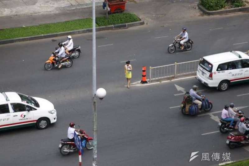 越南胡志明市街景。(洪滋敏攝。)