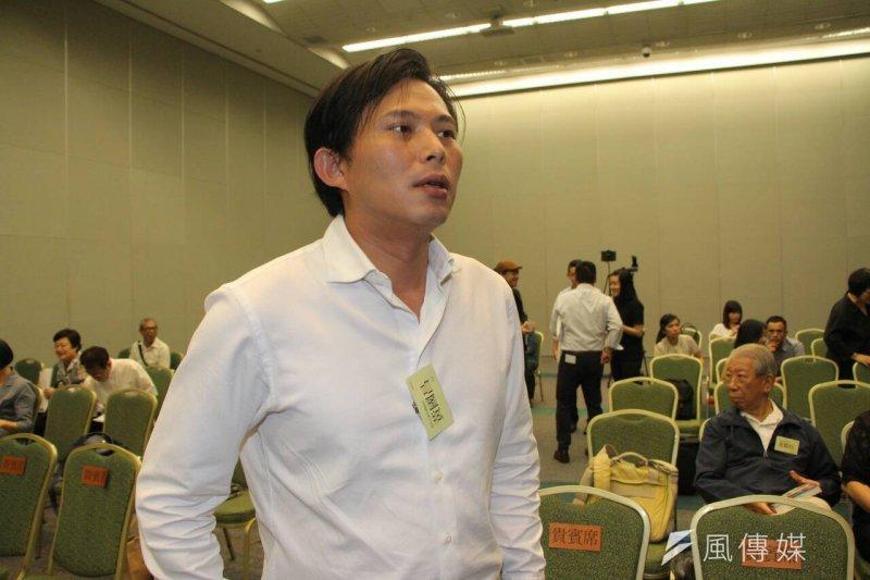 時代力量黨主席黃國昌發言評論國民黨換柱事件。(資料照片,葉信菉攝)