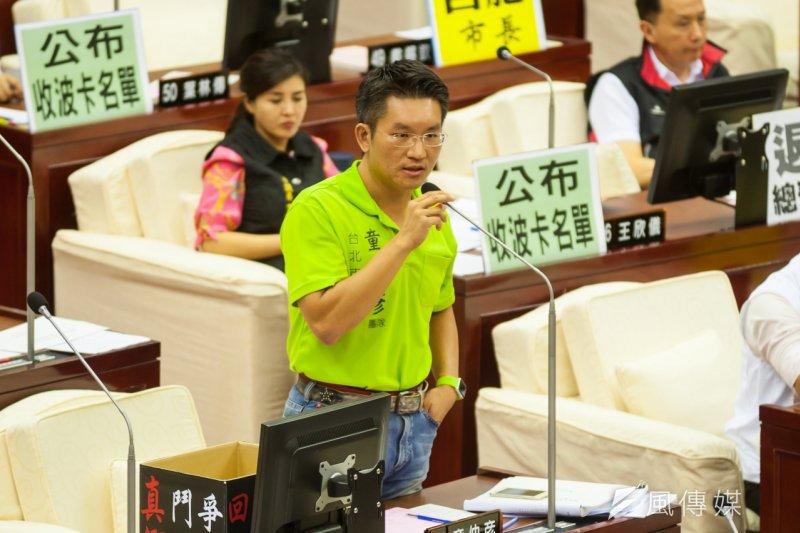 一張波卡讓台北議會停擺,議員紛紛要求公布波卡公關名單。(圖為童仲彥,顏麟宇攝)