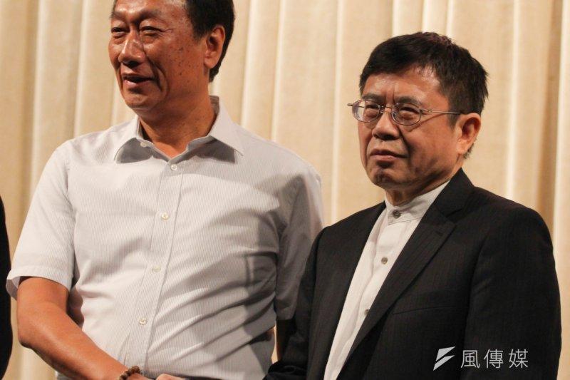 紫光入主矽品,矽品董事長林文伯表示,台灣廠商必須參與紅色供應鏈。(葉信菉攝)