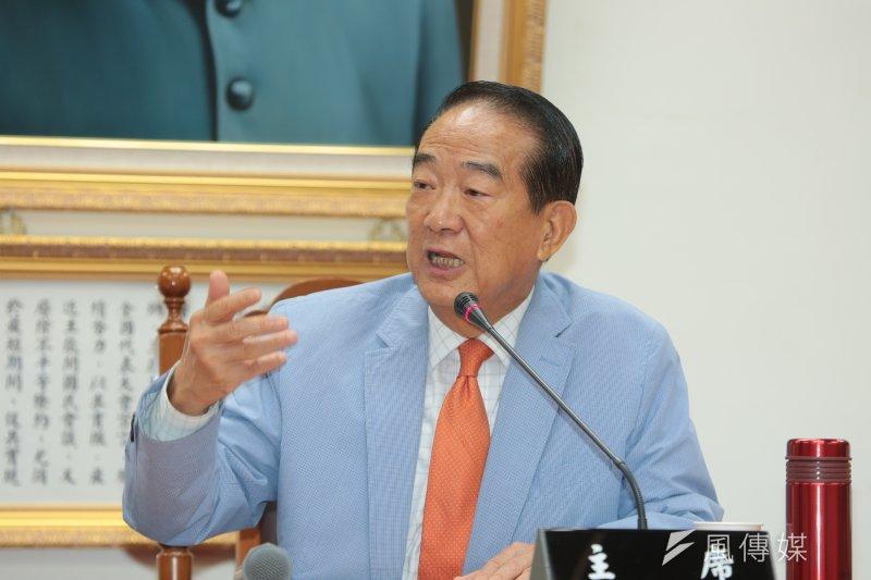 宋楚瑜21日表示,全台灣人民已經癡癡地等16年了,若讓台灣持續沉淪下去,不曉得台灣未來的機會在哪?(顏麟宇攝)