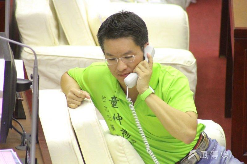 台北市議員童仲彥爆出打老婆的家暴爭議,農曆年前退出民進黨。(曾原信攝)