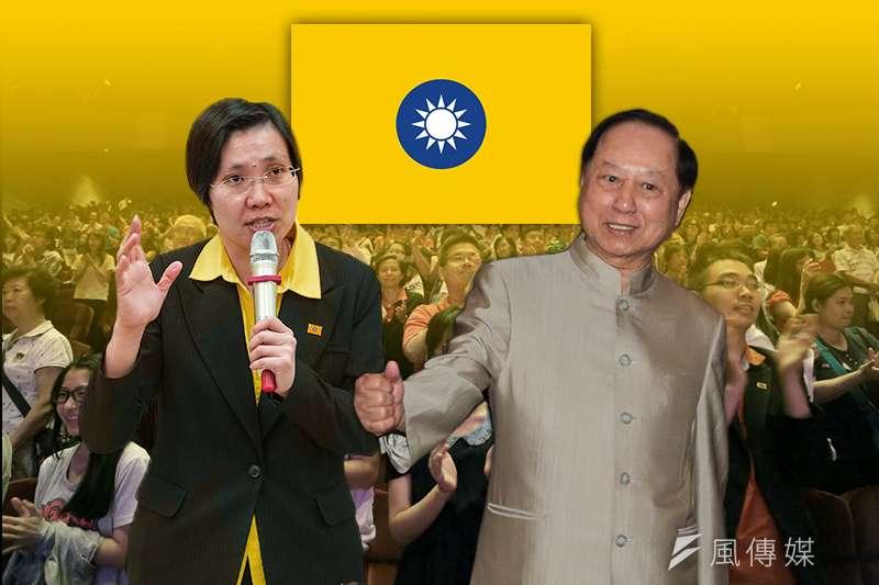 在妙天禪師(右)及民國黨主席徐欣瑩(左)的努力下,民國黨黨員已突破10萬,且支持者更號稱到達100萬人。(資料照,余志偉攝/影像合成:風傳媒)