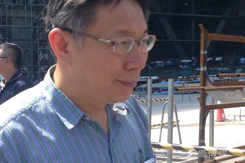 台灣這幾年出現劇場興建熱潮,圖為柯文哲視察台北藝術中心工地。