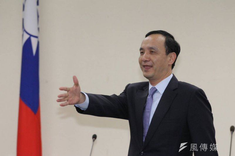 國民黨主席朱立倫對換柱行動,向洪秀柱與全體黨員道歉。(資料照/葉信菉攝)