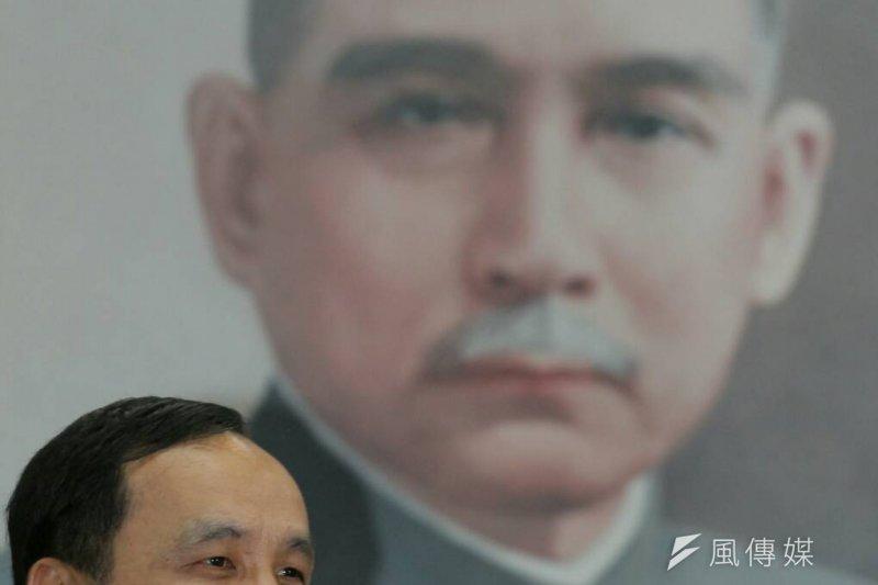 2015年10月7日,國民黨主席朱立倫主持中常會。(葉信菉攝)