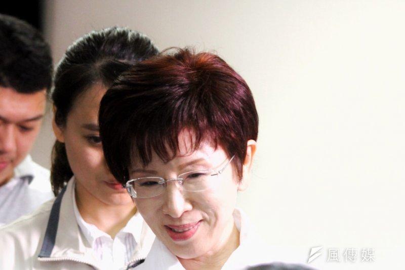 國民黨總統參選人洪秀柱將在周末依程序被撤換提名。(曾原信攝)