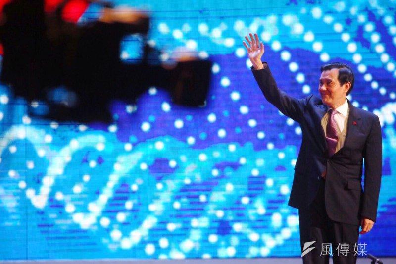 總統馬英九出席四海同心大會。(蔡耀徵攝)