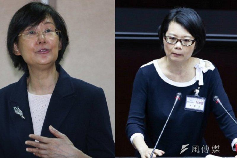 法務部長羅瑩雪(左,余志偉攝)二度發出新聞稿,槓上「七問羅部長」的監察委員王美玉(右,林韶安攝)。