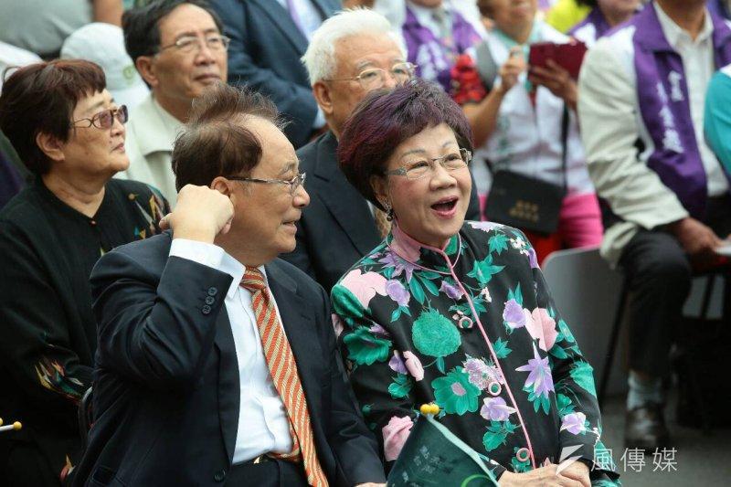 蔡英文全國競選總部10月18日正式成立,呂秀蓮、張俊雄出席(顏麟宇攝)