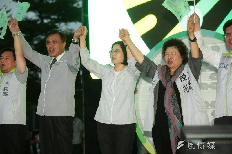 蔡英文全國競選總部10月18日正式成立(顏麟宇攝)