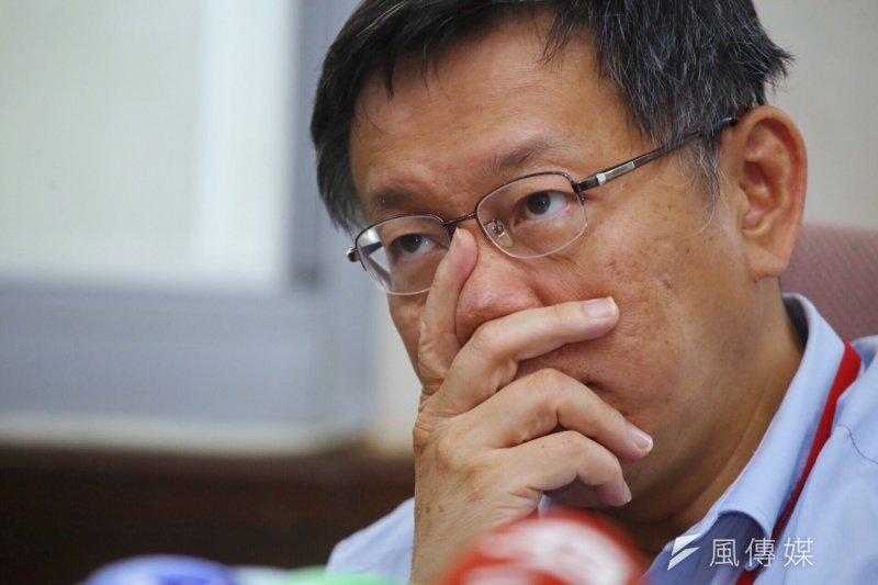 針對日前的「不打房」一說,台北市長柯文哲24日於臉書發千字文抒發理念。(資料照,蔡耀徵攝)