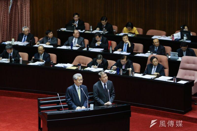 今天台灣方面在兩岸談判事務上的立法若是以談判者出賣主權為話題,顯然是拿一個不存在、甚至是不可能存在的虛假議題進行立法,簡直將民主憲政的立法當成私人盲目洩忿的玩物。(陳明仁攝)