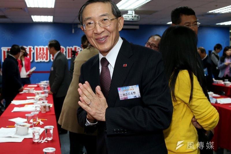 外交部長林永樂針對國民黨總統參選人朱立倫訪美一事表達看法。(資料照片,吳逸驊攝)