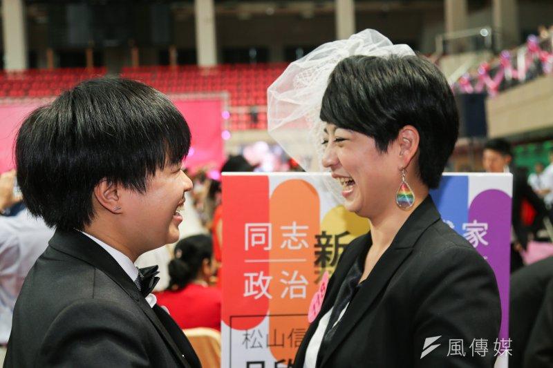 明年元旦開始,台北、高雄兩市政府將合作辦理同性伴侶註記。(資料照,陳明仁攝)