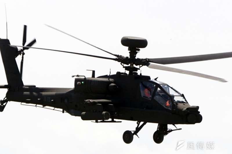 阿帕契AH-64E直升機(蘇仲泓攝)