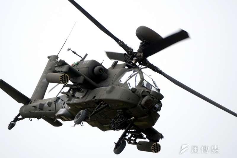 美軍阿帕契直升機飛官表示,阿富汗已經是很可怕的戰區,但沒想到世界上還有像台灣這樣,比阿富汗戰區對直升機威脅更大的地方。圖為阿帕契AH-64E直升機。(資料照,蘇仲泓攝)