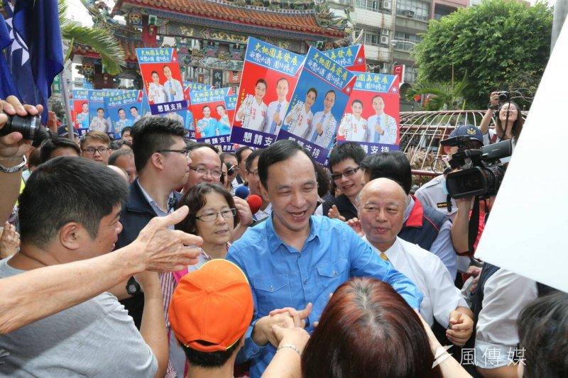 國民黨總統參選人朱立倫今日到桃園造勢。(陳明仁攝)