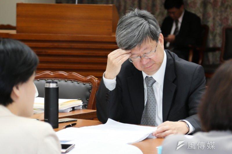 教育部長吳思華表示,12年國教上路起(103學年)逐漸平穩,為讓社會回歸平安,未來不要有太多異動,但在入學分發上,他希望有一些學生能走入技職體系,習得一技之長(陳明仁攝)