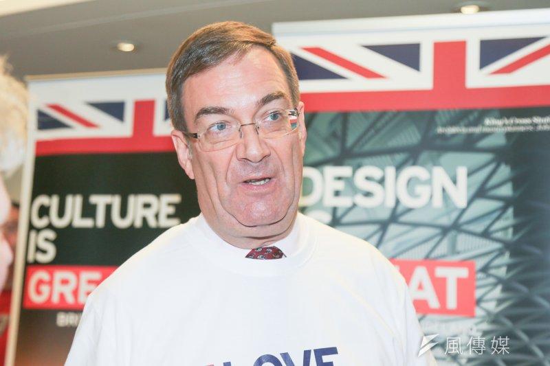 英國在台辦事處代表胡克定(Chris Wood)強調,林克穎案尚在英國法院審理中,與《移交受刑人協議》不可混為一談。(陳明仁攝)