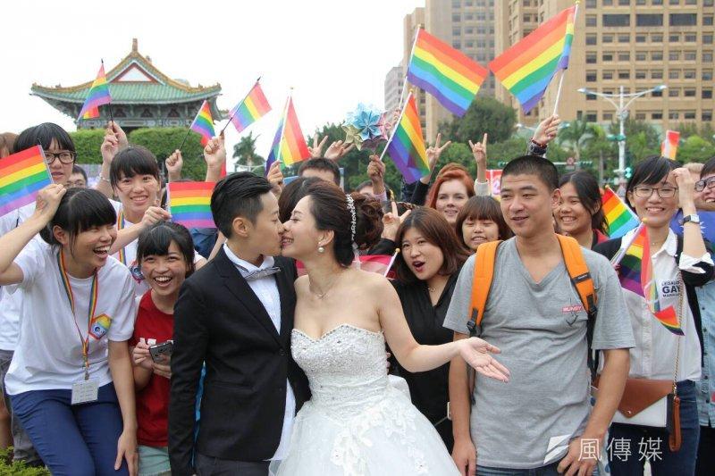 同志婚姻能否在台灣合法就靠您手中的選票。(葉信菉攝)