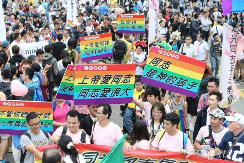 民進黨立委蘇巧慧、尤美女辦公室相繼出手幫助,台灣同志大遊行最後終於在遊行前10天順利借到場地。(資料照,陳明仁攝)